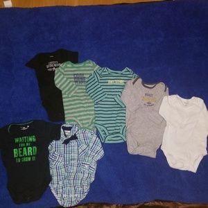 Carters bundle bby boy 3month bodysuits,7 pieces